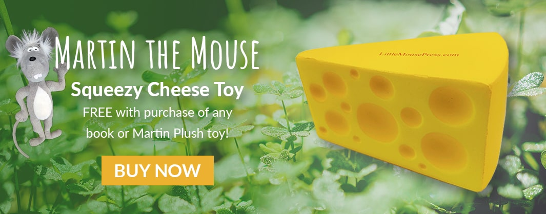 Martin the Mouse Squeeze Cheese Toy
