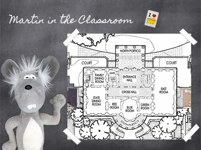 Martin the Mouse with White House Map