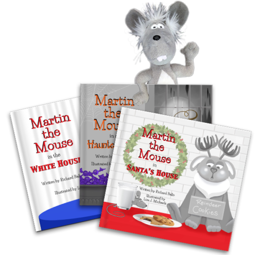 Martin the Mouse Complete Set of Books and Toy